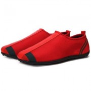 Men Leisure Splicing Breathable Slip-on Flat Shoes