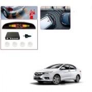 Auto Addict Car White Reverse Parking Sensor With LED Display For Honda New City 2017