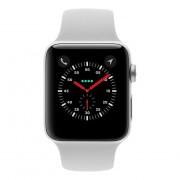 Apple Watch Series 3 Aluminiumgehäuse silber 42mm mit Sportarmband wei√ü (GPS + Cellular) aluminium silber