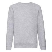 Dziecięca bluza Premium Raglan Sweat Fruit of the Loom Heather Grey