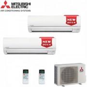 Mitsubishi Electric Dual Split Inverter Serie Msz-Dm 9+12 Con Mxz-2dm40va - New 2016