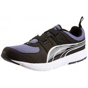Puma Men's Descendant Alt DP Black-Crown Blue-White Running Shoes - 11 UK /India(46EU)