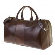 Brødrene GERONE Koniakowa męska torba ze skóry Podróżna smooth leather