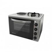 Комбинирана готварска печка ток и газ Eldom 213VF, 3100 W/1500 W, чугунена плоча, 38 л., инокс