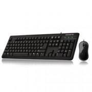 Комплект мишка и клавиатура Gigabyte GK-KM3100, оптична мишка (800 dpi), кабел 1.5m, USB, черен