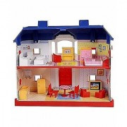 My Country Doll House Playset With Living Room Bed Room Bath Room Dining Room 24 Pieces
