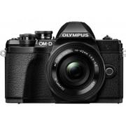 Olympus Digitalkamera Olympus OM-D E-M10 M 14-42 mm + 40-150 mm 17.2 Megapixel Svart WiFi, Full HD Video, Optisk bildavsökare, Elektronisk sökare, med inbyggd blixt, Blixtskon, Live-View
