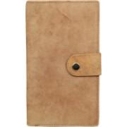 Kan New Year Gift-Tan Genuine Leather Travel Document Holder/Passport Holder/Card Holder for Men & Women(Tan)