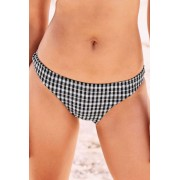 Womens Next Check Bikini Briefs - Monochrome