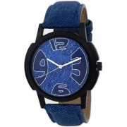 TRUE CHOICE RICH LOOK BLUE LEATHER BEALT SUPRE NEW WATCHS ANALOG FOR MEN BOYS.
