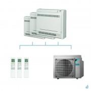 DAIKIN climatisation tri split console double flux gaz R32 FVXM-F 7,4kW FVXM35F + FVXM35F + FVXM35F + 4MXM80N A++