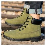 Botas Hombre Martin Alto Zapatos De Los Hombres Al Aire Libre -Verde Del Ejército