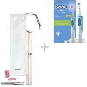Дамски тример тип писалка за корекции за лице и тяло Philips HP6393/00 + Електрическа четка за зъби Oral-B D12.513