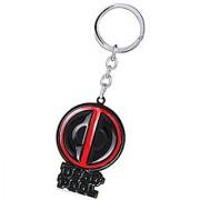 1pc Superhero Xmen Deadpool Logo Mask Figure Metal Key Ring Chain Keychain Pendant(assorted color)
