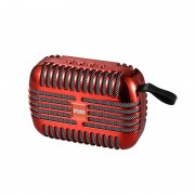 T18 Bluetooth Speaker Plating Card Usb Flash Drive Mini Subwoofer Small Stereo - Red