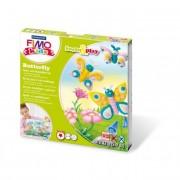 Gyurma készlet, 4x42 g, égethető, FIMO Kids Form & Play, pillangók