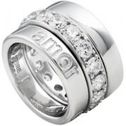 Unknown Diamonfire - Zilveren combinatiering Maat 19.0 - Brede ring bestaand uit 3 delen