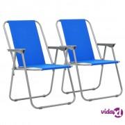 vidaXL Sklopive stolice za kampiranje 2 kom 52 x 59 x 80 cm plave