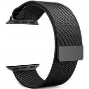 Wotchi Ocelový milánský tah pro Apple Watch - Černý 38/40 mm