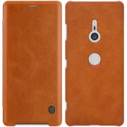 NILLKIN Qin Series PU Leather Card Holder Mobile Shell for Sony Xperia XZ3 - Brown