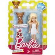 Малка кукла Барби блондинка с бяла рокля, Barbie, 1710011-4