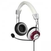 Слушалки с микрофон HAMA Style, USB, Бял/Бордо, HAMA-139911
