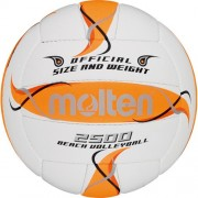 molten Beach-Volleyball BV2500-FOR (weiß/orange/silber) - 5