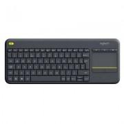 Logitech Klawiatura bezprzewodowa LOGITECH Wireless Touch Keyboard K400 Plus Czarny