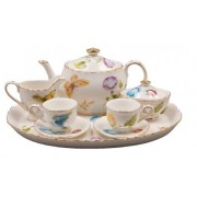 Childrens 10 Piece Mini Tea Set for Two, Karlys Butterflies, Gift Boxed