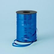 Rafie metalizata albastra pentru legat baloane latex sau folie - 250 m, Qualatex 25915, 1 rola