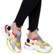 Pantofi sport dama Neep cu talpa groasa, Gri 41