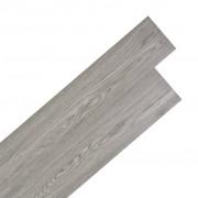 vidaXL Самозалепващи подови дъски от PVC 5,02 м² 2 мм тъмносиви
