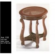 Ben Junior - ovális kisasztal márványlappal - zöld