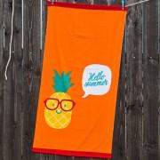 Gyerek strand fürdőlepedő, ananász narancssárga 70x140