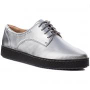 Półbuty CLARKS - Lillia Lola 261364624 Silver Leather