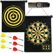Magnetic Rollup Dart Board and Bulls Eye Game with Darts