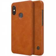 NILLKIN Qin Series PU Leather Card Holder Protector Shell for Xiaomi Mi A2 Lite / Redmi 6 Pro - Brown