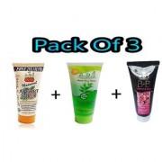 ADS BB Rose Cream + ADS Neem Face Wash + ADS Apricot Scrub ( Pack Of 3 )