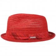 Stetson Chapeau Checked Band Toyo rouge