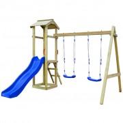vidaXL Градинска пързалка и люлки 242x237x218 см FSC борова дървесина