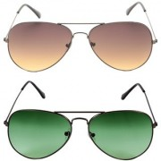 Magjons Aviator Sunglasses Combo Set of 2 With box MJ7780