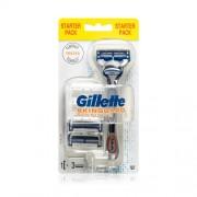 Gillette Aparat de ras pentru pielea sensibilă Skinguard Sensitiv + capete de rezervă 3 buc