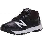 New Balance 950v3 Zapatos de béisbol de Corte Medio para Hombre, Negro/Blanco, 11.5 US