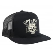 Kapa BLACK HEART - CHOPPER SKULL - BLACK - 022-0073-BLK