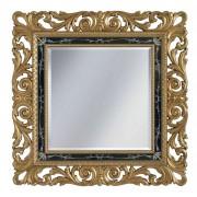 Miroir classique baroque en feuille d'or