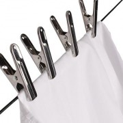 Set of 24 Pieces - Stainless Steel Cloth Drying Clips