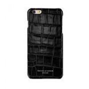iPhone 7 Cover Case Black Croc Black Suede