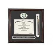 Signature Announcements Portland-State-University Marco de Diploma de graduación con Nombre y Borla, 50,8 x 50,8 cm, Color Dorado Brillante Caoba