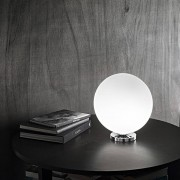 Perenz Srl Sphera Lampada Da Tavolo Moderna Sfera Vetro Bianco