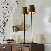 LOBERON Tafellamp set van 2 Filia / antiekgoudkleurig